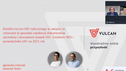 Korekta roczna VAT naliczonego w związku ze zmianami w sposobie ewid. dok. sprzed. i stos. stawek VAT. Ustalanie WSS i prewskaźnika VAT na 2021 rok. [nagranie webinarium]